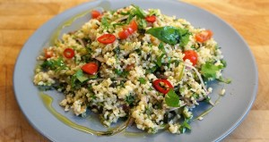 Bulgur Wheat Salad - Greek tabbouleh recipe by Theo Michaels