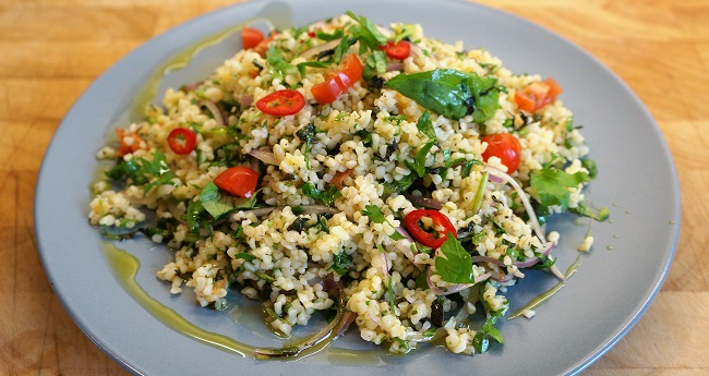 Bulgur Wheat Salad – my take on a tabbouleh recipe!