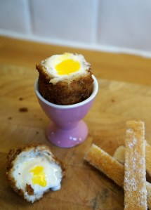 Deep Fried Ice Cream Easter Egg, Boiled Egg Surprise!