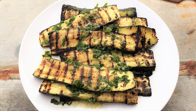 Grilled Zucchini Recipe – Grilled Courgettes with summer dressing