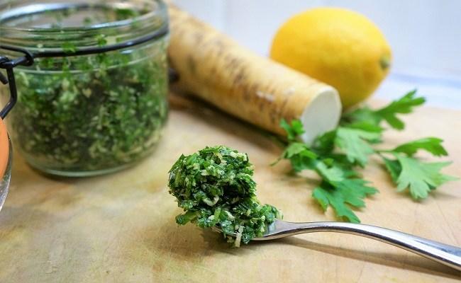 How To Make Horseradish Gremolata
