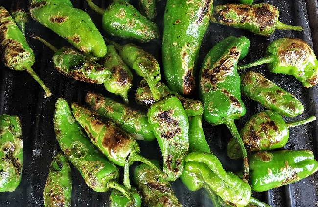 Padron Peppers – Spanish style grilled peppers (Pimientos de Padrón)