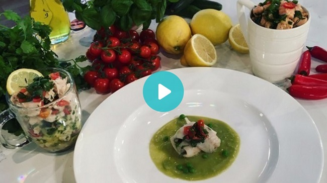 How To Cook Fish in the Microwave – Microwave Mug Meals as seen on ITV This Morning | Seabass with Pea Puree