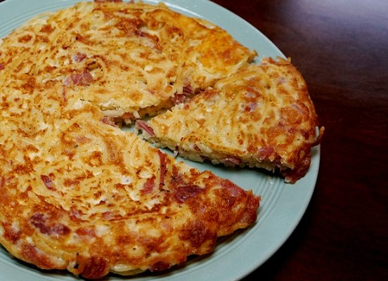 Leftover Spaghetti Frittata Recipe courtesy of my Brother in Law! | Leftover Spaghetti Recipe