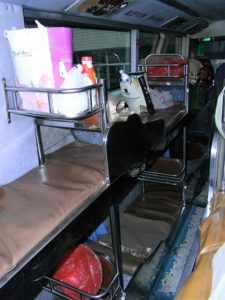China Travel Guide - beds inside sleeper bus