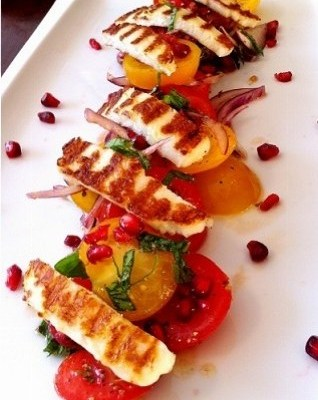 Tomato Salad Recipe with Grilled Halloumi – Rainbow Salad