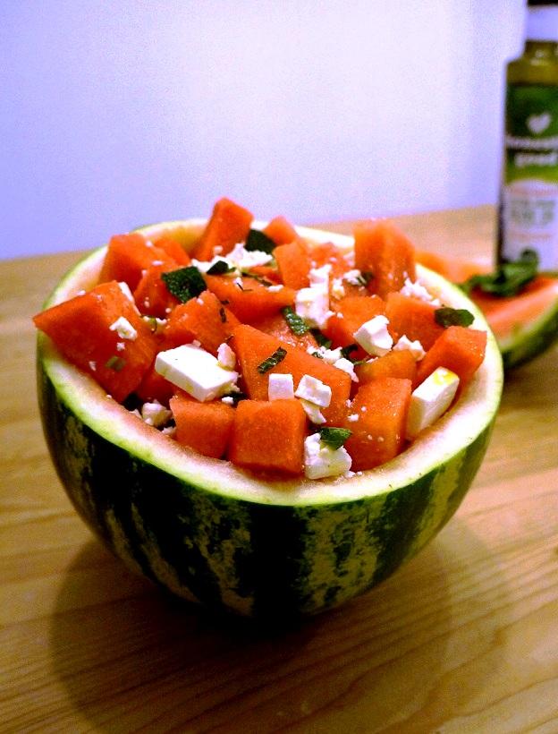 Watermelon Feta Salad Bowl – amaze your friends! | Greek Recipes