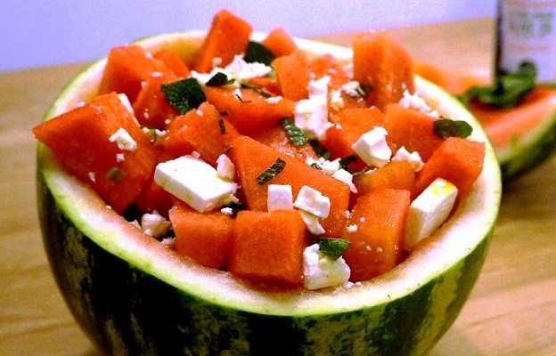 Watermelon Feta Salad Bowl – amaze your friends! | Greek Recipes