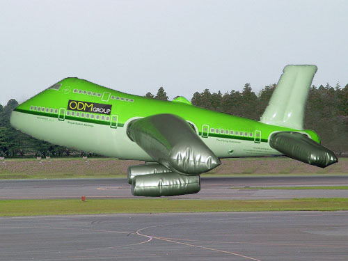 promotional product gift idea odm inflatable aeroplane plane boeing 747