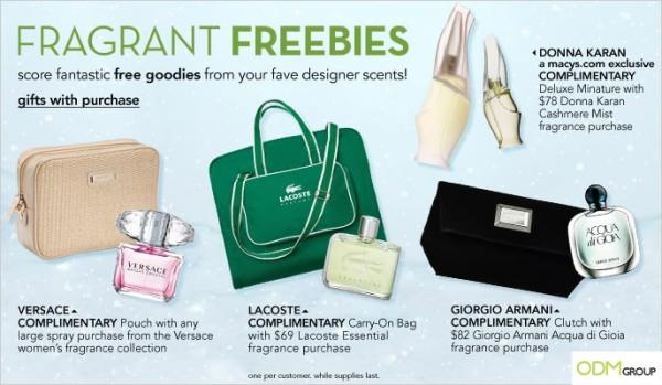 Macy's Fragrance New Promotional Products 2013