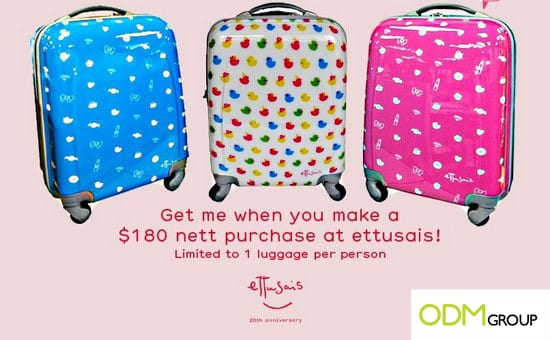 Ettusais Gift with Purchase: Luggage