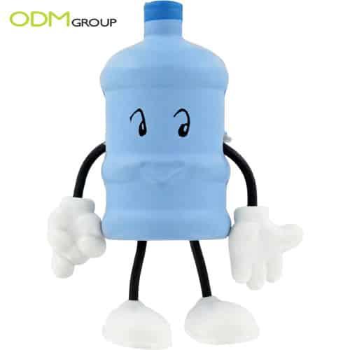 Marketing Gift: Water Bottle Figure Stress Balls