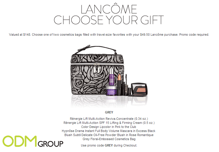 Go on a worry-free vacation with Lancôme's custom cosmetics bag