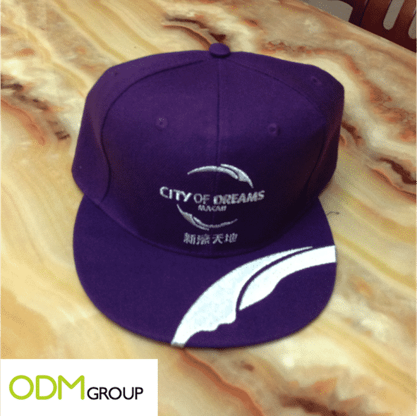 A promotional cap to celebrate Macau's Grand Prix with City of Dreams