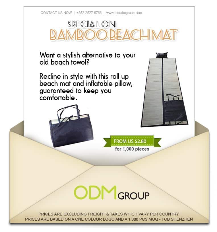 Summer Special Offer Promo - Bamboo Beach Mat