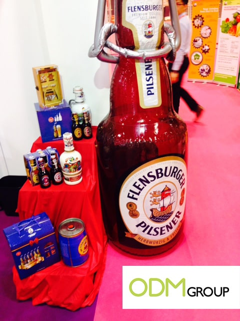 Inflatable beer bottle - Food Promotion HOFEX