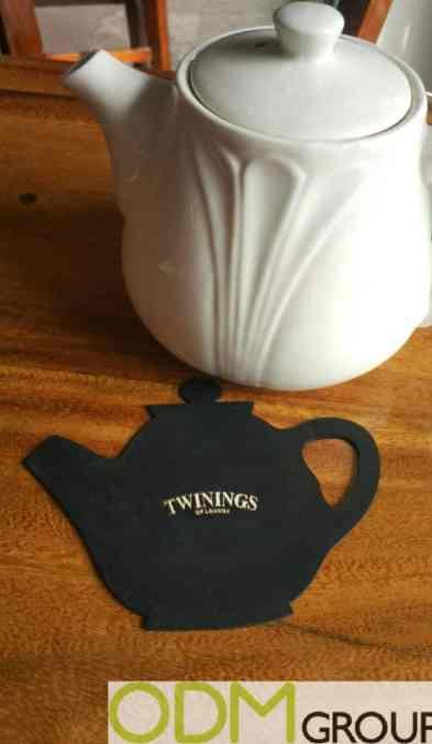 Tea Marketing – Custom Shape Coasters by Twinings