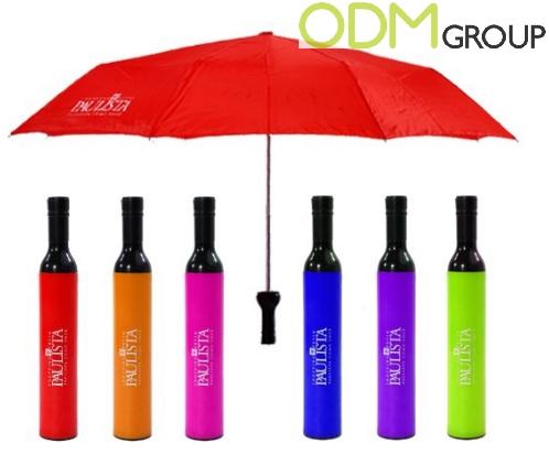 Wine Marketing - Bottle Shaped Custom Umbrella