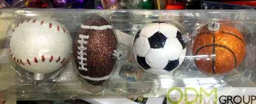 Christmas Promo Idea - Sports Ball Christmas Baubles