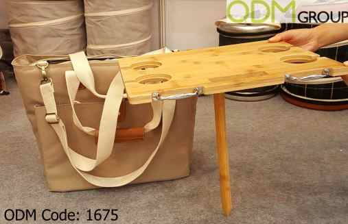 Custom Picnic Bag with Wine Table for Outdoor Promotion
