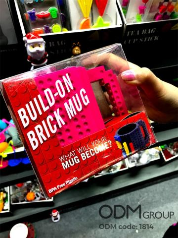 Build-On Brick Mug Great for Marketing and Promotion