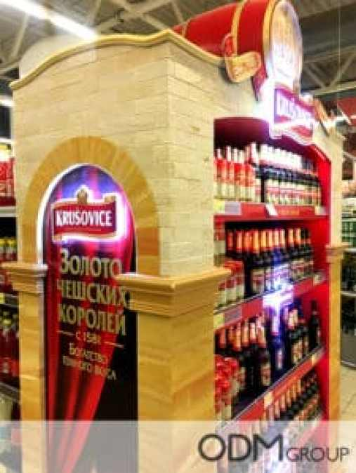 Exciting POS Display for Beer - Used By Krusovice