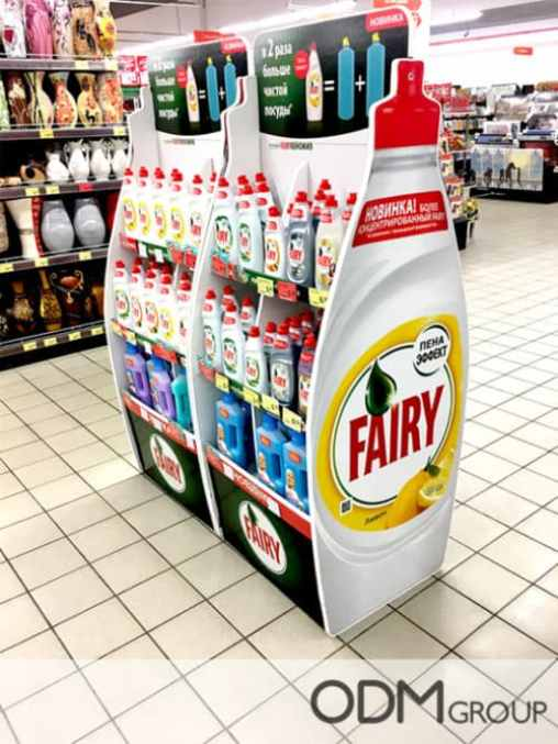 Custom Instore Display for P&G's Fairy Liquid Advertisement
