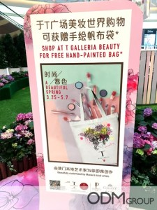 Hand-Printed Tote Bag for Beauty Promotion – GWP in Macau