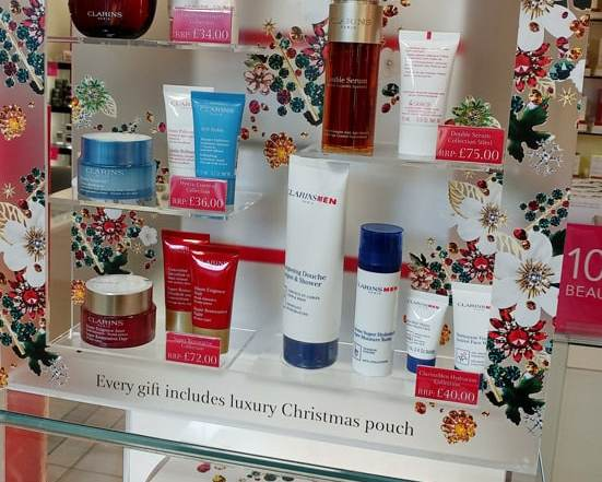 Clarins Stood Out With Custom POS Display and Promotional Pouch Bag