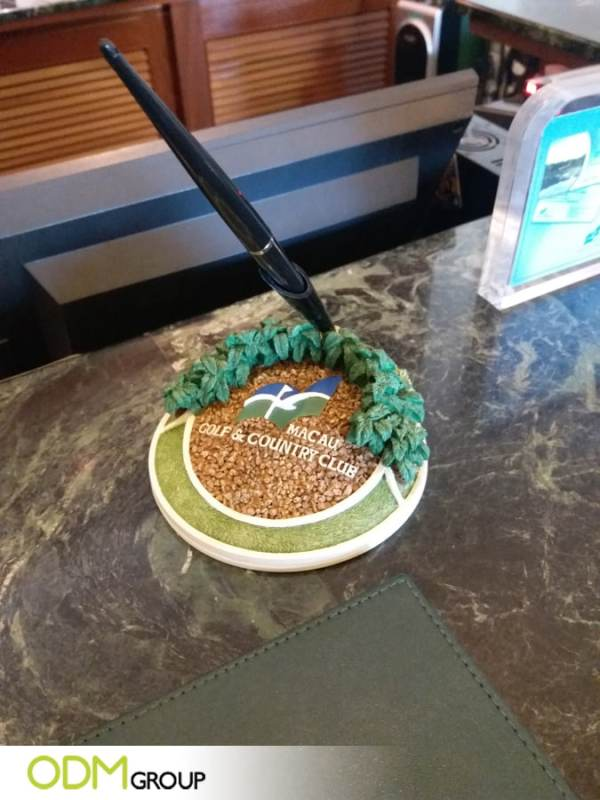 How Macau Golf and Country Club uses this Promotional Pen Holder