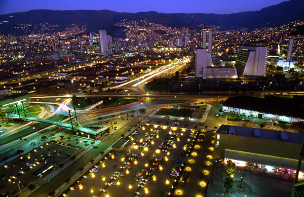 Panoramic View of Medellin, Colombia photo