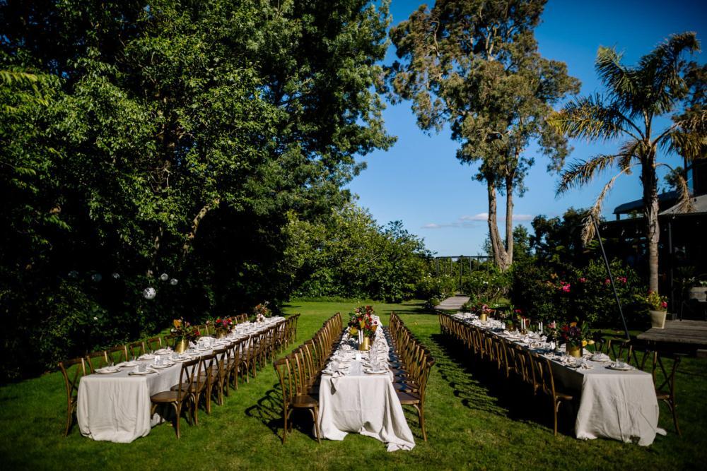 Narrows Landing Hamilton Outdoor wedding Reception