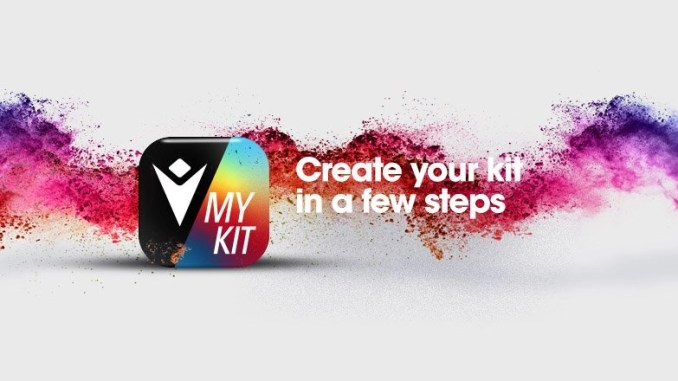 Clubs and schools can create unique and exciting kit designs for next season using Macron's brand new 'Make My Kit' app.