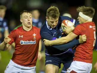 Stafford McDowall in action for Scotland Under-20 against Wales Under-20 last week.