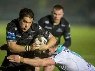 Sam Johnson in action for Glasgow Warriors against Connacht ***Image ©INPHO/Craig Watson***