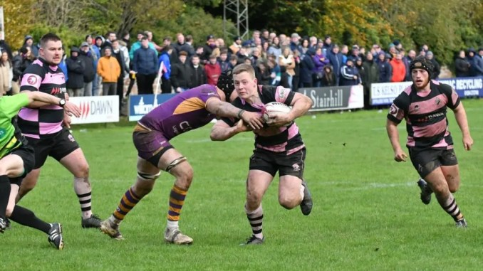A young Ayr side kept going to the end against Marr. Image: George McMillan