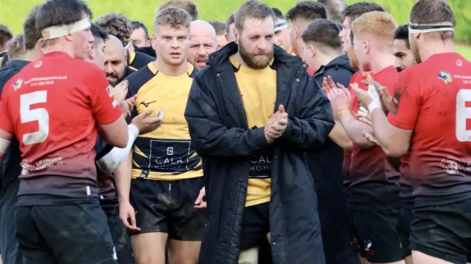 Mike Vernel leaves the field after Currie Chieftains' victory over Glasgow Hawks last weekend.