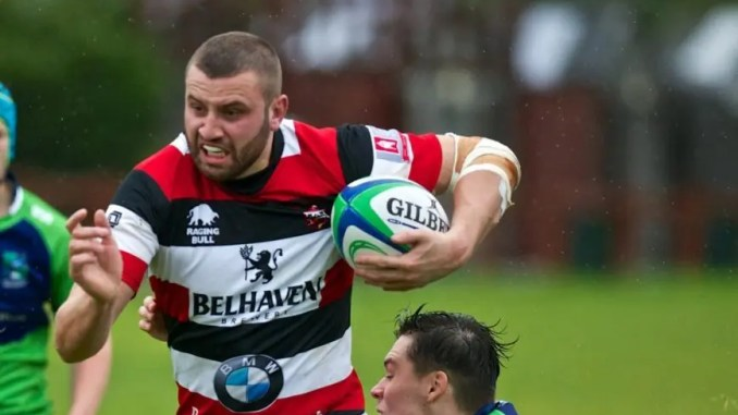 Stef Yarrow carries the ball Stirling County Wolves against Boroughmuir last week.