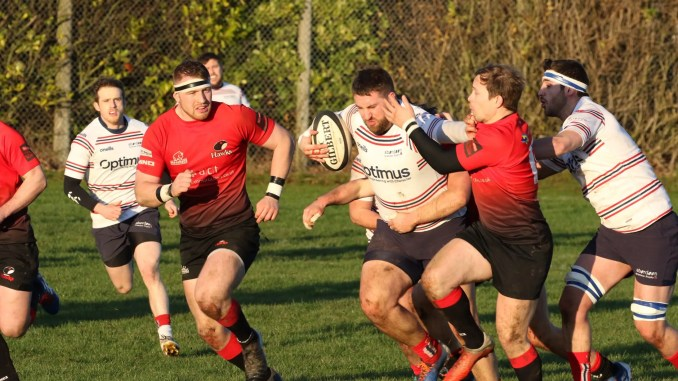 Aberdeen Grammar versus Glasgow Hawks was the only Premiership game to survive the frost. Image: Howard Moles