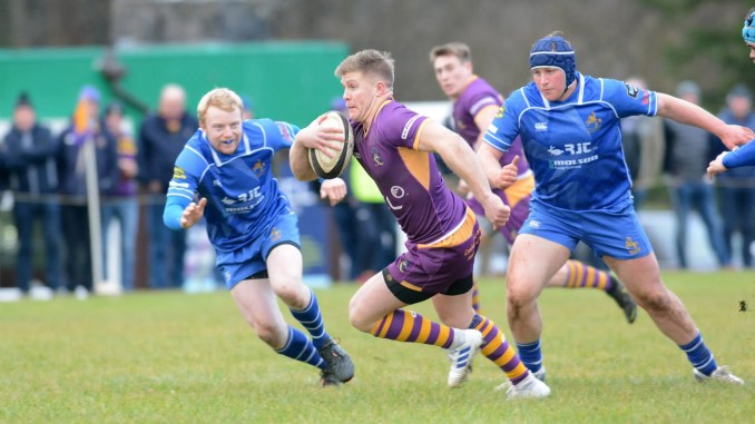 Marr centre and captain Conor Bickerstaff scored his 10th try of the season against Jed-Forest on Saturday. Image: Kenneth Ferguson
