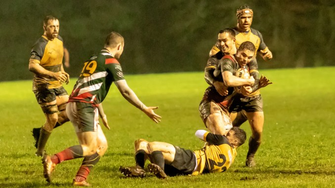 Currie Chieftains came out on top in a battle in the mud against GHA at Malleny Park. Image: Fraser Gaffney