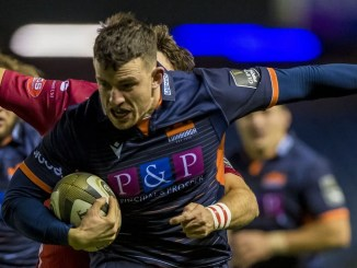 Matt Scott scored Edinburgh's opening try in the second minute. Image: ©Craig Watson