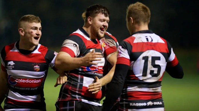 Stirling County captain Reyner Kennedy scored his team's first try. Image: Bryan Robertson