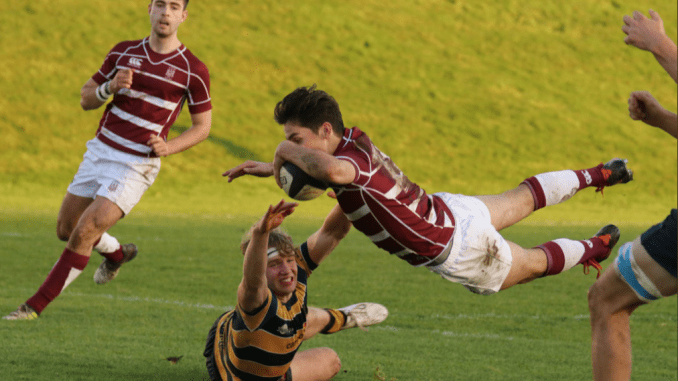 George Watson's College defeated Strathallan at Myreside. Image: Graham Gaw