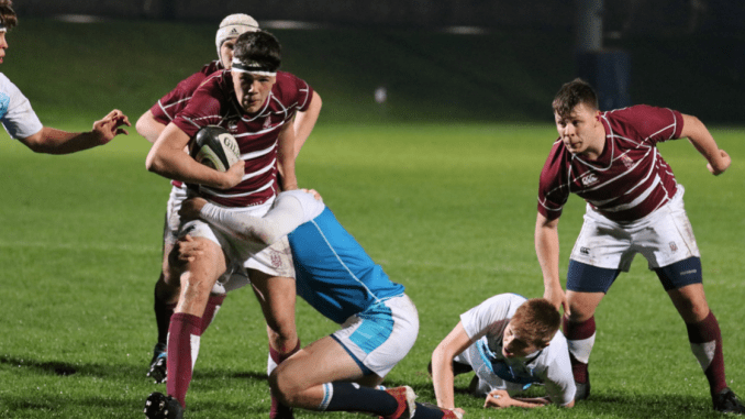 George Watson's and Edinburgh Academy lock horns in the second semi-final on Friday afternoon. Image: Graham Gaw