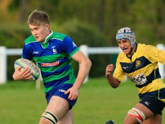 Euan Ferrie carries the ball for Hamilton Bulls against Gordonians. Image: Neil Mitchell