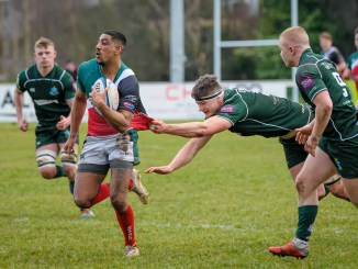 GHA's Aaron Pruewal on the run against Hawick. Image: Joyce Robinson