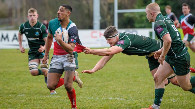 GHA's Aaron Pruewal on the run against Hawick. Image: Joyce Robinson