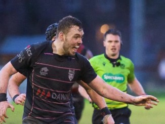 George Bordill in action for Ayrshire Bulls during last week's gritty win over Stirling County. Image: Bryan Robertson