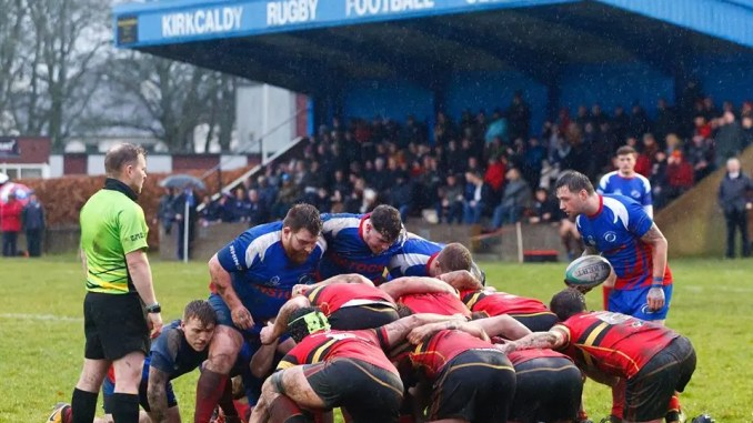 Stewart's Melville went second after battling a bonus point win at Kirkcaldy. Image: Michael Booth